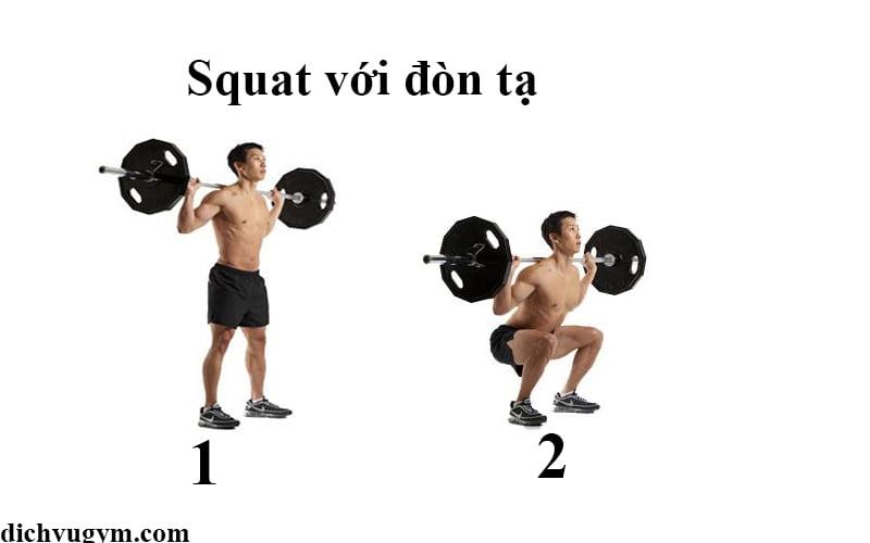 tư thế squat tập mông đùi